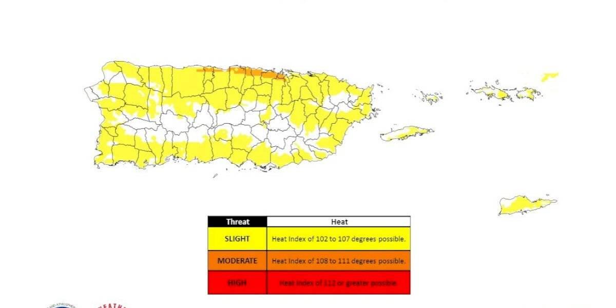Emiten advertencia de calor para pueblos del norte de la isla