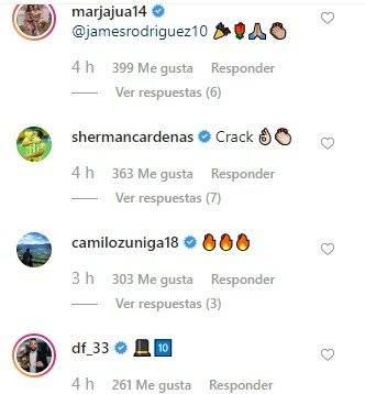 2. Mensajes de felicitación para James Rodríguez