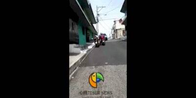 Trabajador de la Municipalidad de Guatemala puso en riesgo la seguridad de un grupo de niños.