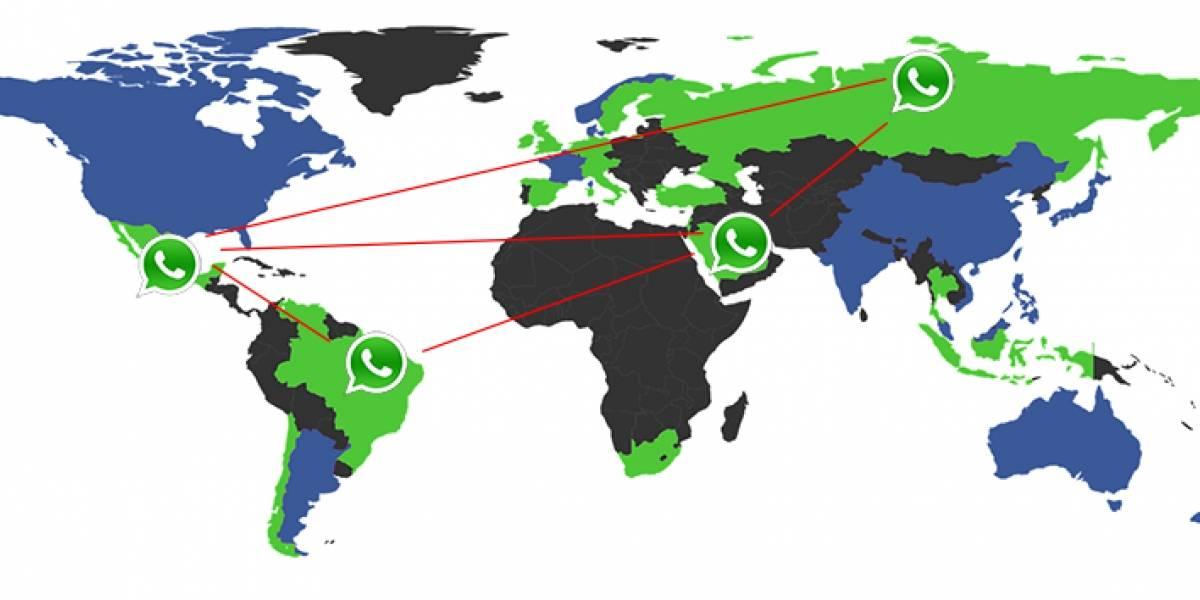 Estos son los países en los que más se utiliza WhatsApp