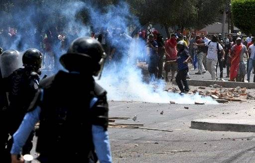 Disturbios en Honduras el día de la Independencia. AFP