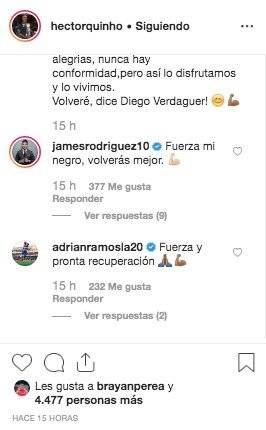 2. Mensajes por lesión de Héctor Quiñones