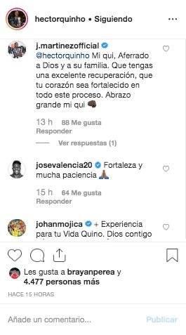 1. Mensajes por lesión de Héctor Quiñones