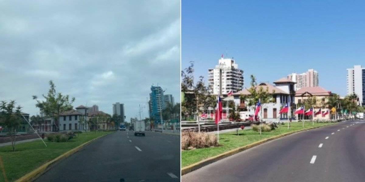Ni un día duraron banderas que instalaron en Antofagasta: se las robaron todas
