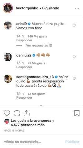 3. Mensajes por lesión de Héctor Quiñones