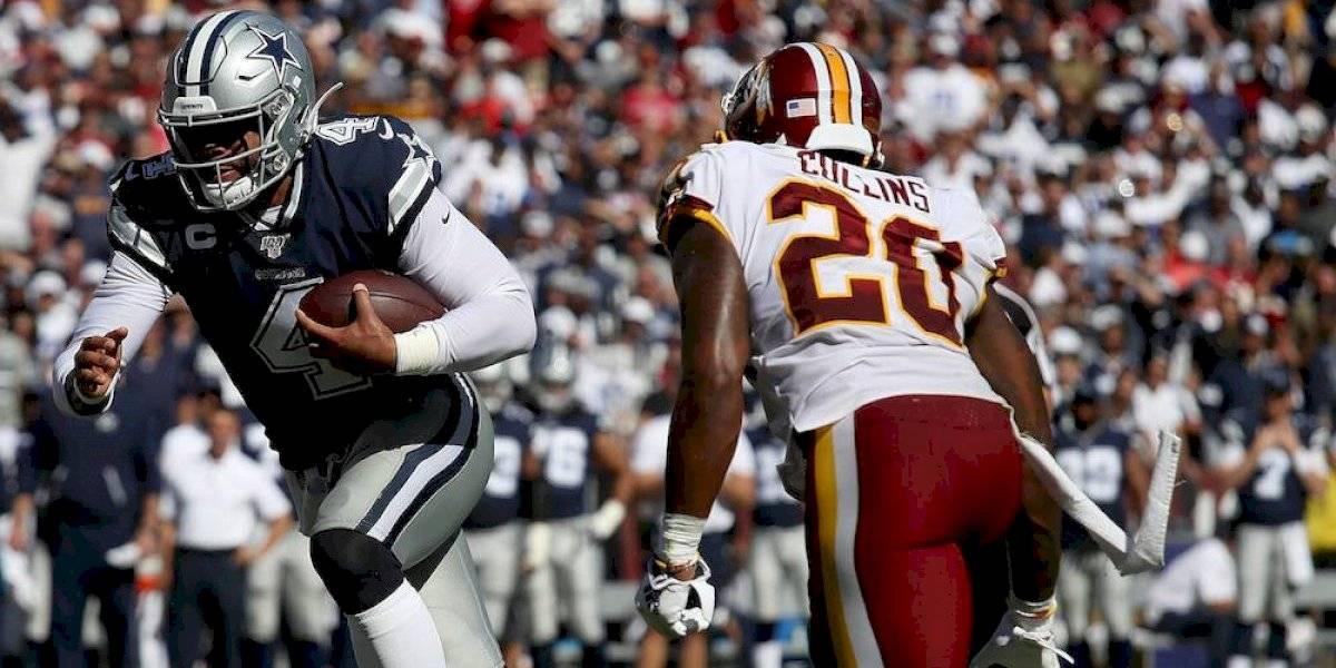 Dak Prescott brilla por tierra y aire en triunfo de Cowboys