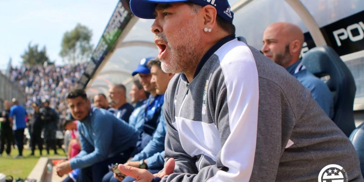 """Diego Maradona: """"Me duele el alma"""", tras debut con Gimnasia"""