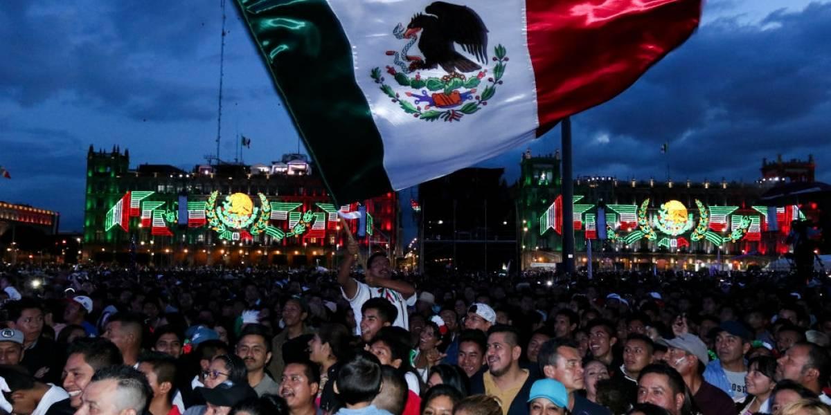 Zócalo se convierte en una fiesta por el primer Grito de Independencia de AMLO