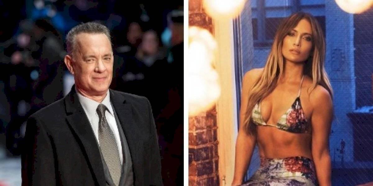 VIDEO. Tachan de grosero a Tom Hanks por limpiarse el rostro tras saludar a Jennifer López