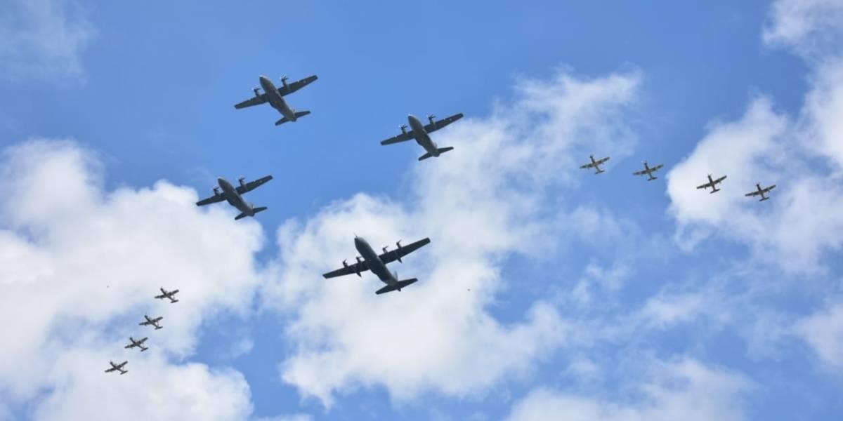FOTOS: Fuerza Aérea, preparada para espectáculo en el desfile militar