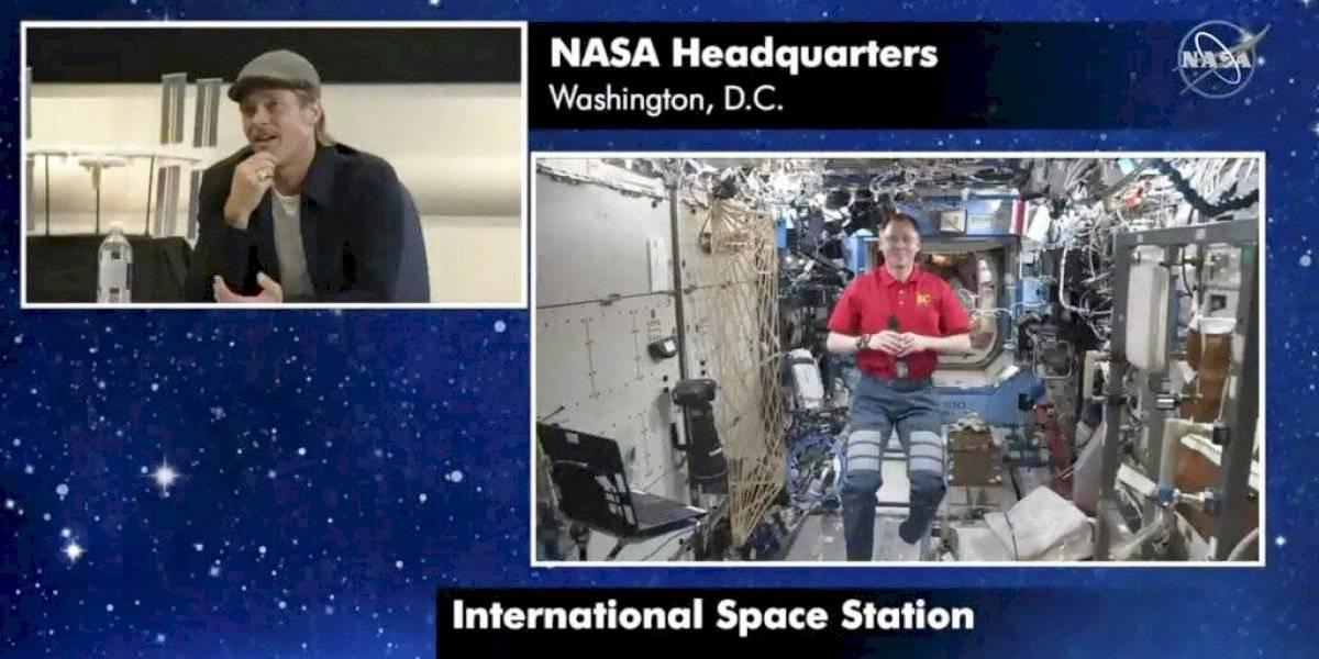 """Brad Pitt conversa con astronauta sobre su filme """"Ad Astra"""""""