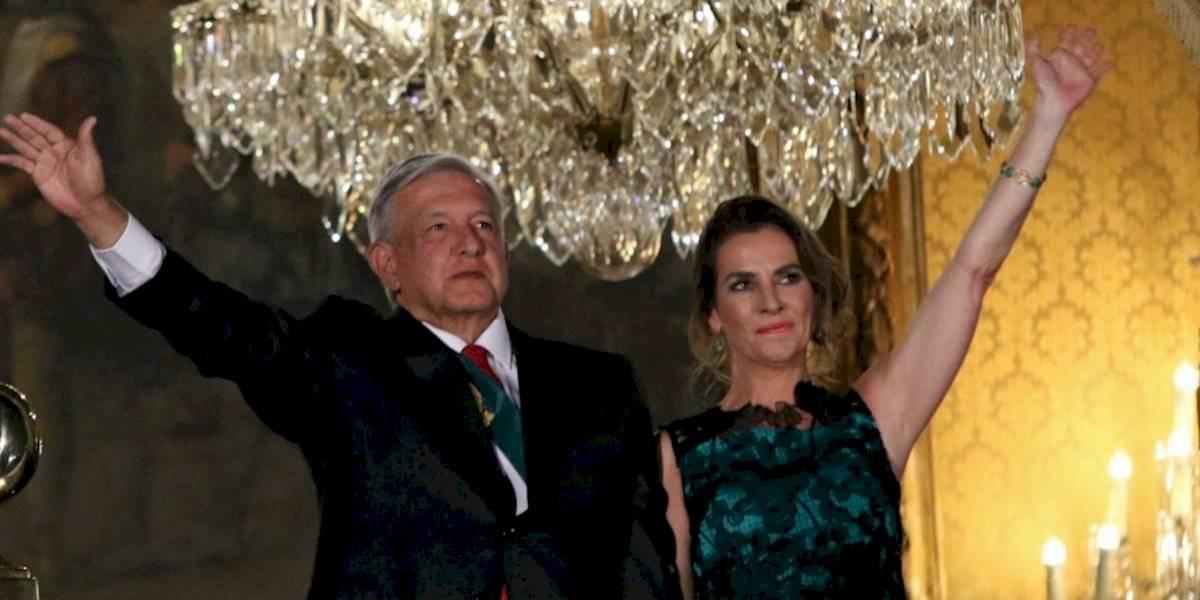 Beatriz Gutiérrez Müller luce vestido sencillo en su primer 'Grito'