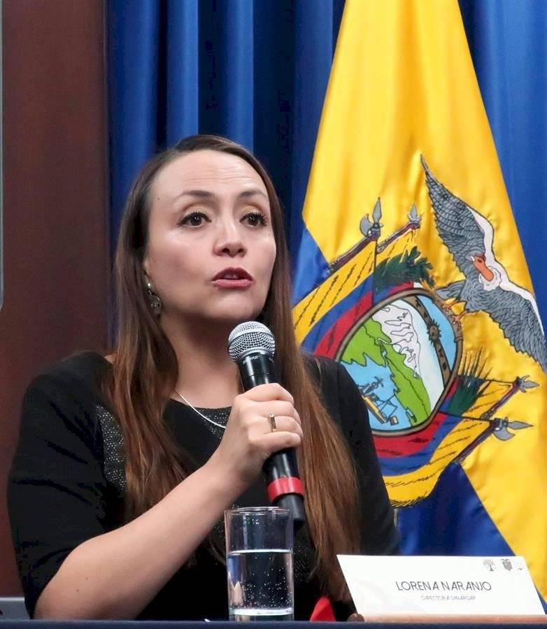 La directora de la Dirección Nacional del Registro de Datos Públicos (Dinardap), Lorena Naranjo,