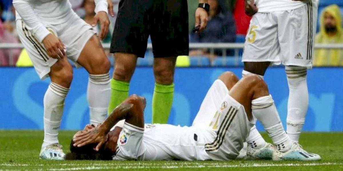 Otra baja para el Real Madrid, Marcelo lesionado