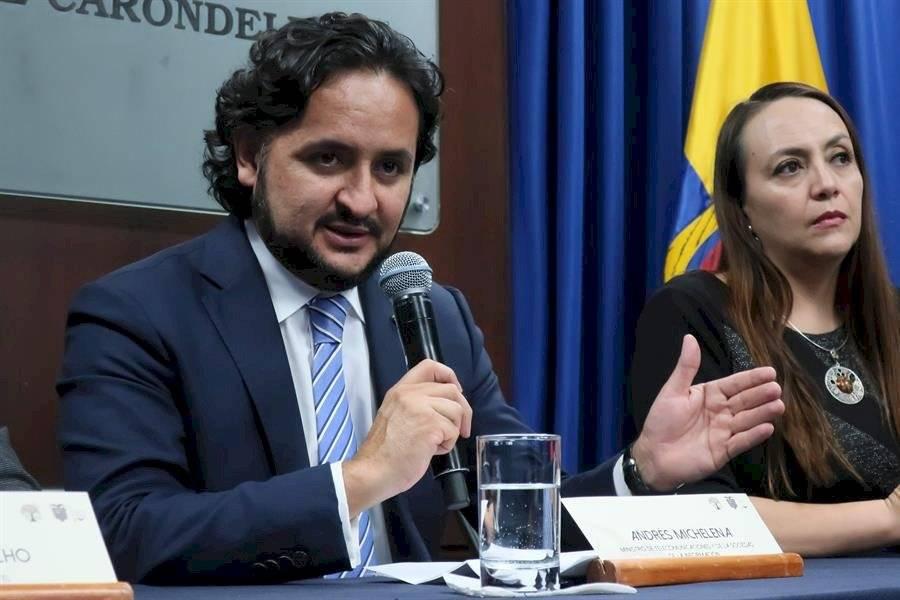 l ministro de Telecomunicaciones de Ecuador, Andrés Michelena
