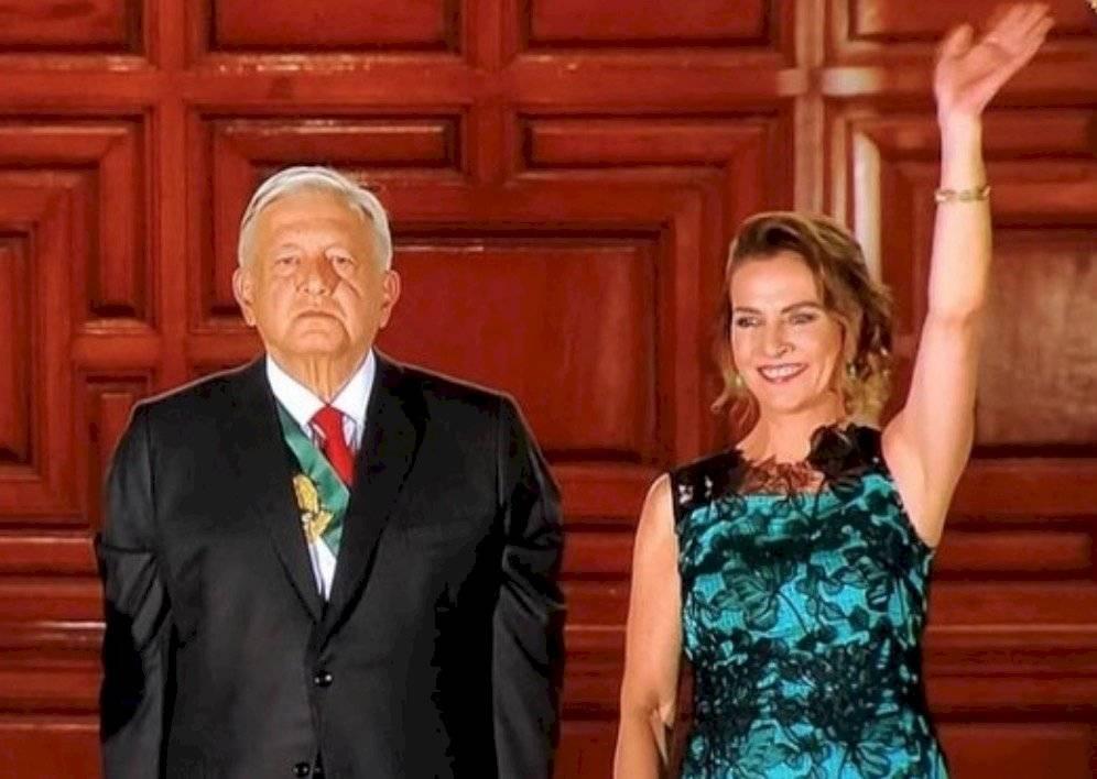 Andrés Manuel López Obrador and Beatriz Gutiérrez Müller