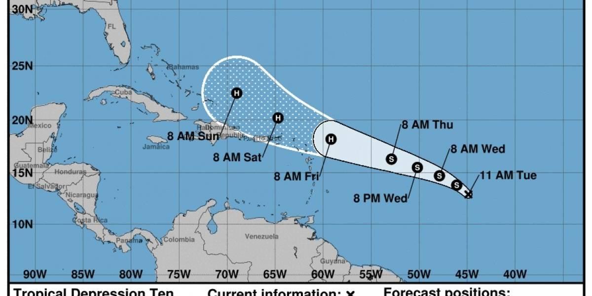 Vigilantes a depresión tropical en el Atlántico