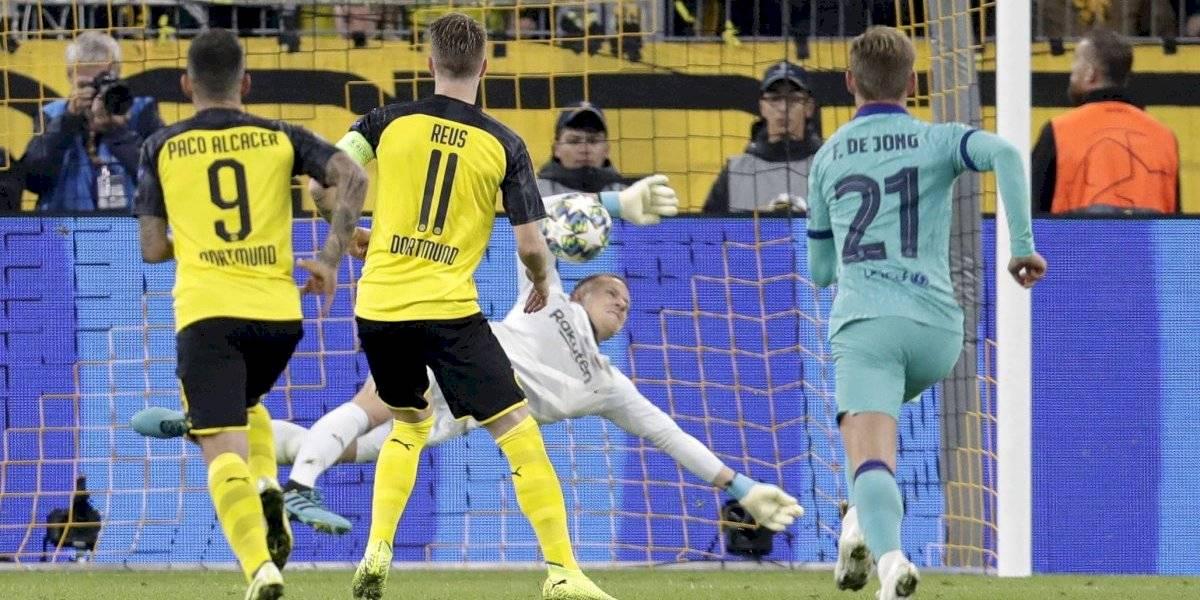 San Ter Stegen salvó al Barcelona sin Vidal ante Borussia Dortmund en su estreno en la Champions