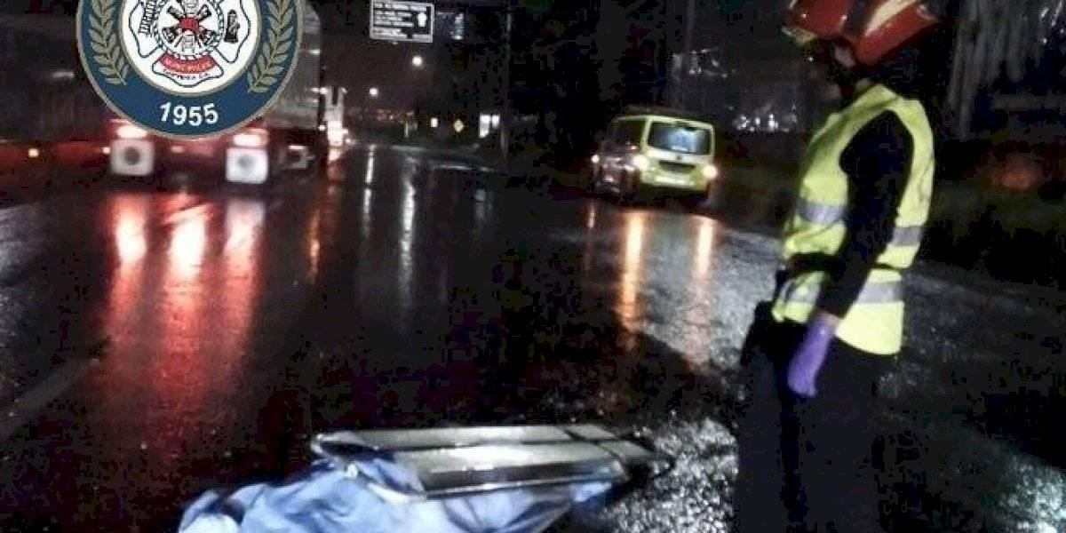 Hombre muere atropellado en ruta al Pacífico
