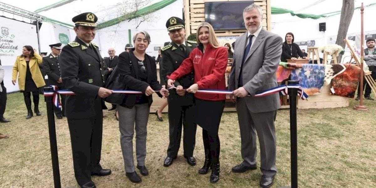 Gendarmería inauguró pabellón institucional en la semana de la chilenidad