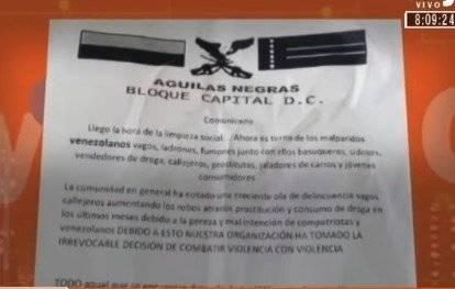 Preocupación por aparición de panfletos con amenazas contra venezolanos en Bogotá