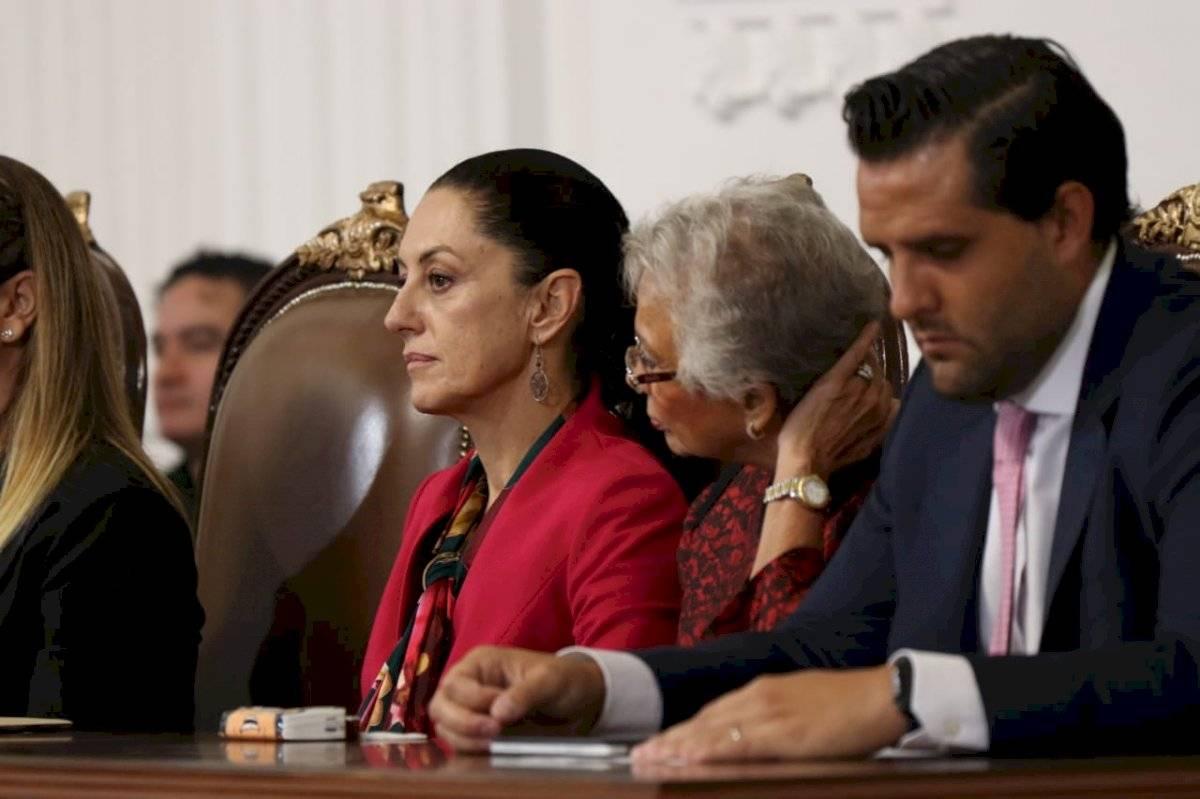 la jefa de gobierno escuchó todos los posicionamientos. Foto: Ángel Cruz/Publimetro