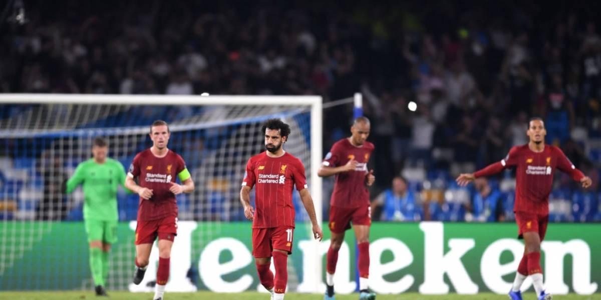 El campeón Liverpool sufrió en el infierno de San Paolo y cayó ante Napoli en su debut en la Champions
