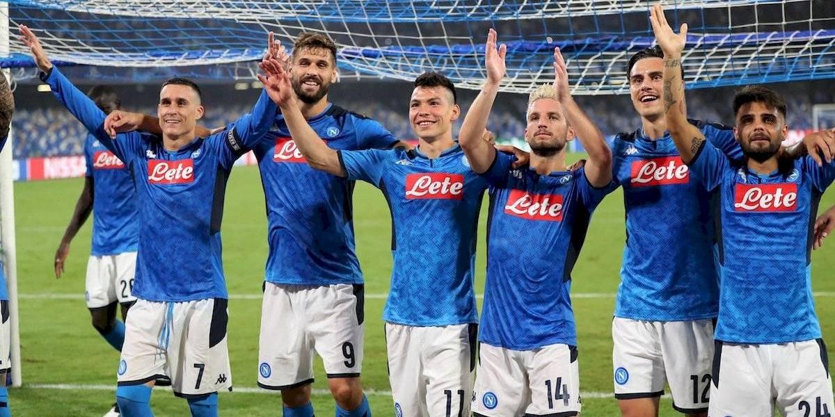 'Chucky' Lozano fue titular en el triunfo del Napoli ante el campeón Liverpool