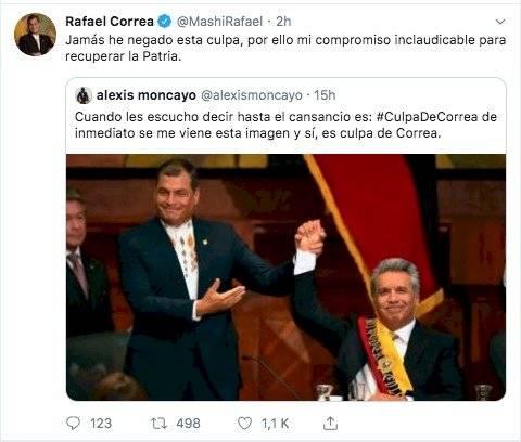Rafael Correa respuesta en Twitter