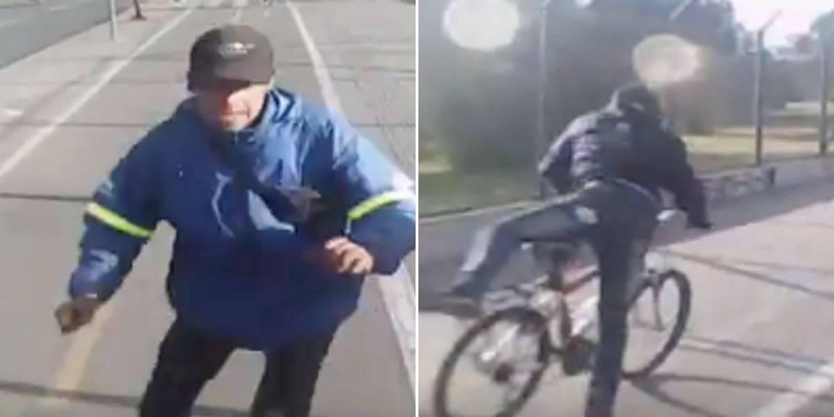 Recuperaron bicicleta de mujer que grabó cómo la robaron en menos de cinco segundos, pero la echaron del trabajo