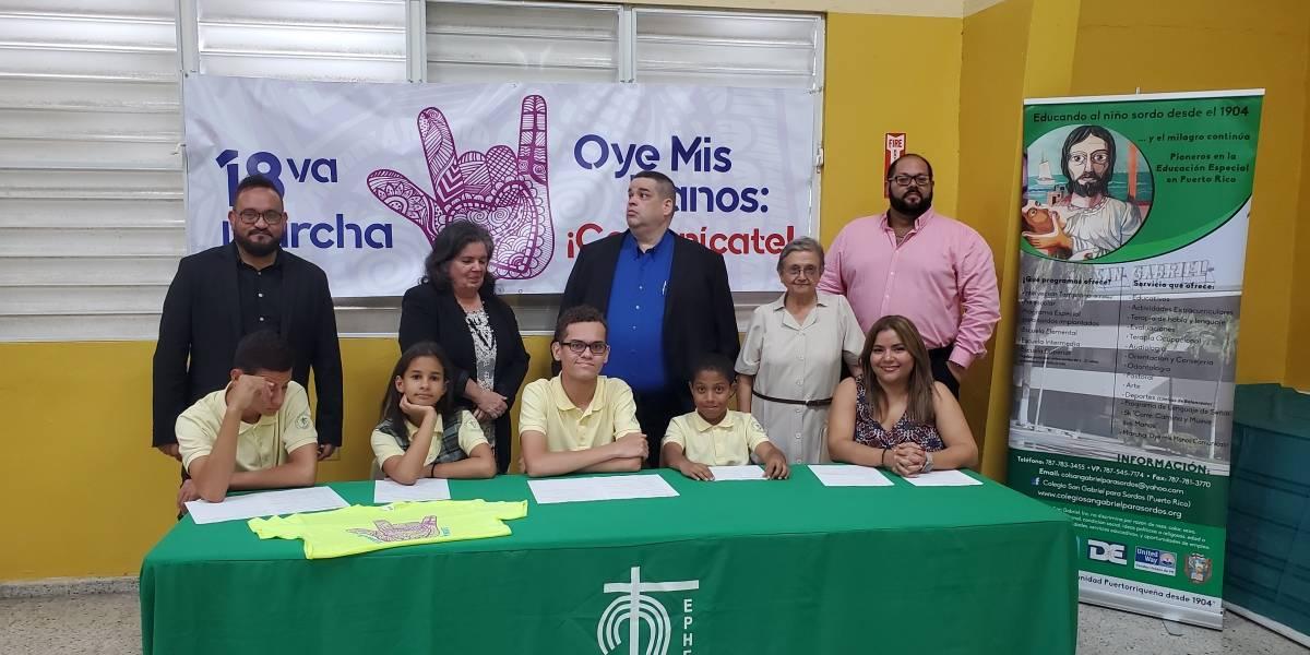 Niños anuncian actividades para concienciar sobre comunidad sorda
