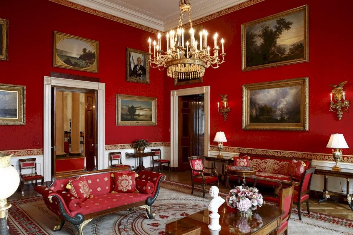 Sala Roja de la Casa Blanca en Washington.