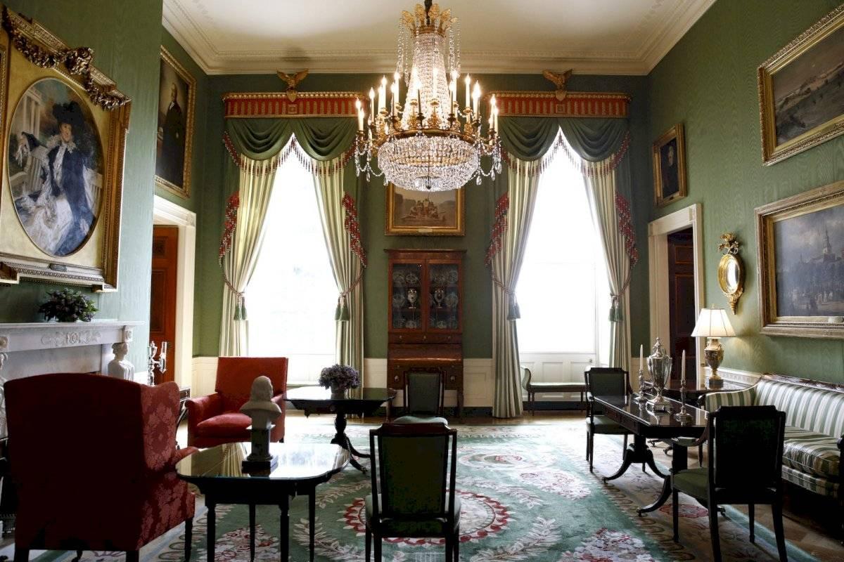 La Sala Verde de la Casa Blanca.