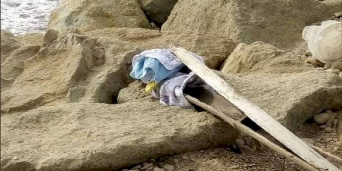 Manabí: encuentran a bebé muerto, envuelto en sábana, en Crucita