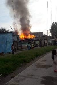 incendio en vivienda de zona 1