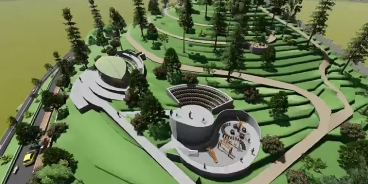 Avanza la construcción del parque ecológico en zona 17
