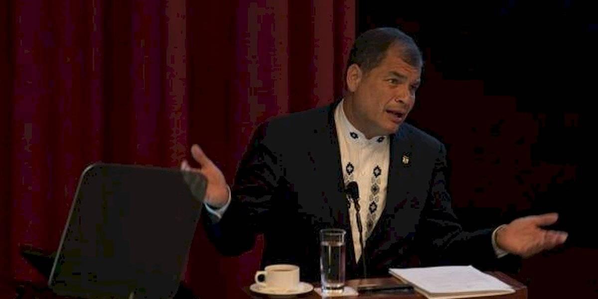 Rafael Correa se demoró más de una hora entrevistando a Nicolás Maduro