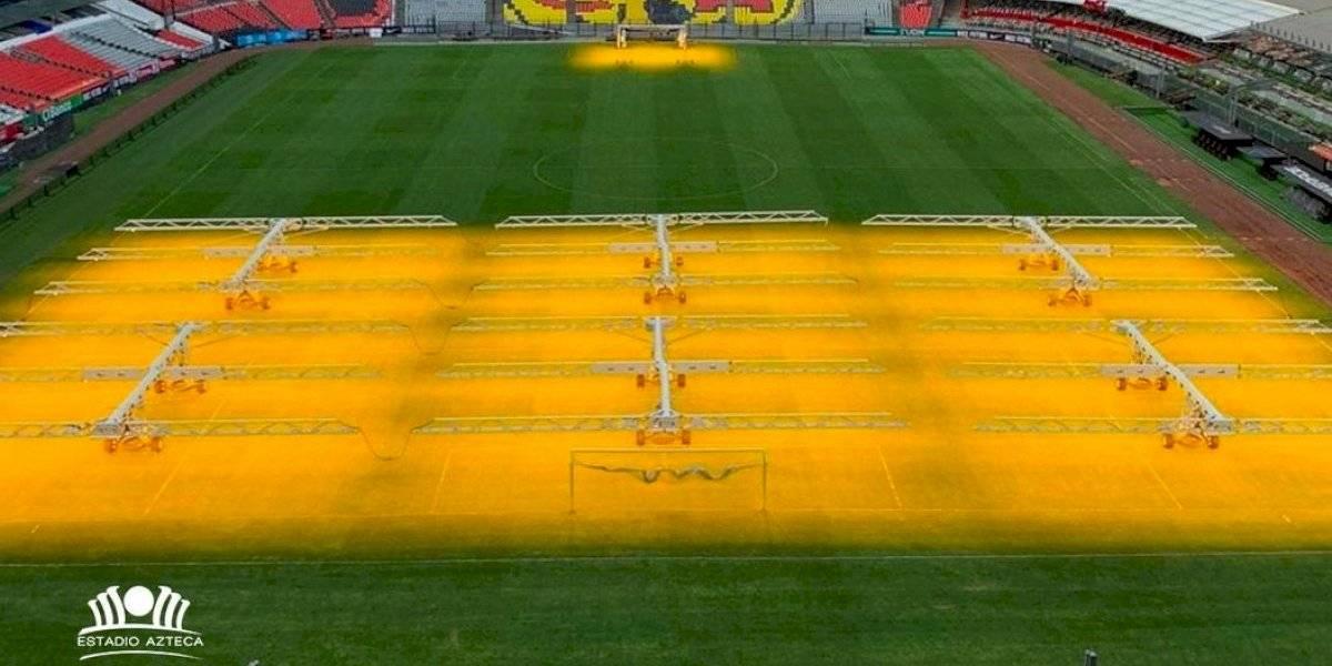 Estadio Azteca presume nueva tecnología para cuidar la cancha