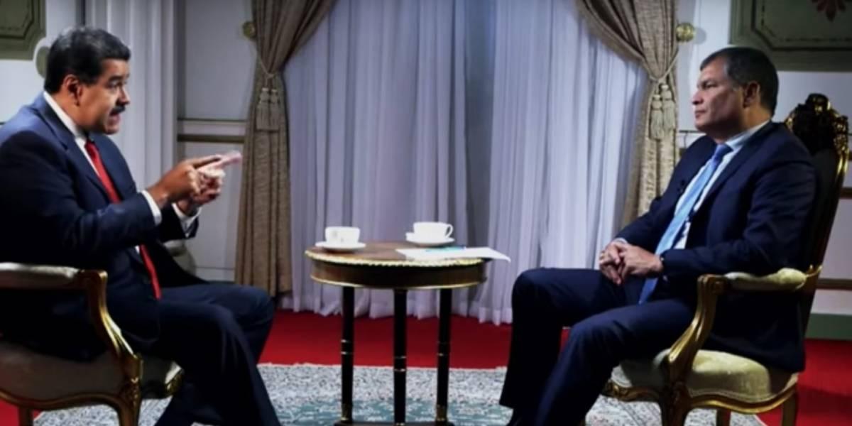 Rafael Correa mostró su apoyo al Gobierno de Nicolás Maduro