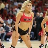 Bailarina de Karol G en Miami Heat