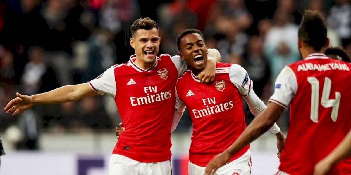 El subcampeón se hizo respetar: Arsenal goleó a Eintracht Frankfurt en su debut por la UEFA Europa League