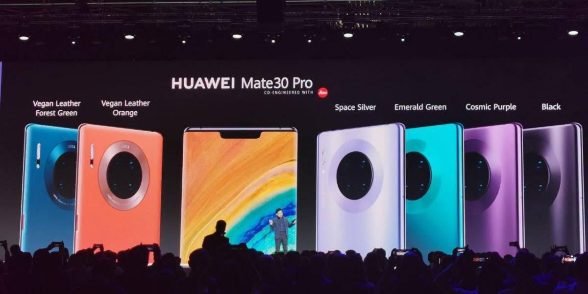 Eso fue rápido: todas las versiones del Huawei Mate 30 salieron a la venta hoy