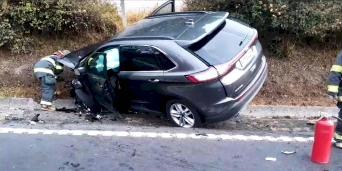 Quito: Una persona herida en accidente de tránsito