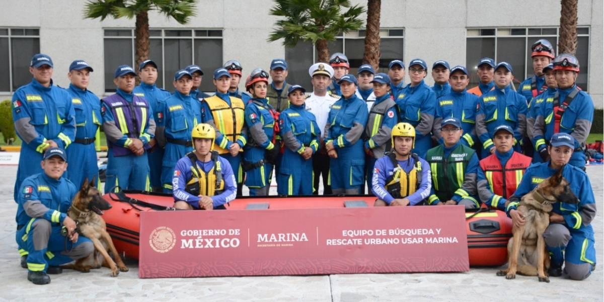Marina capacita a sus rescatistas a nivel internacional