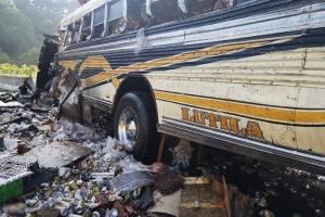 accidente de bus en vuelta el Chilero