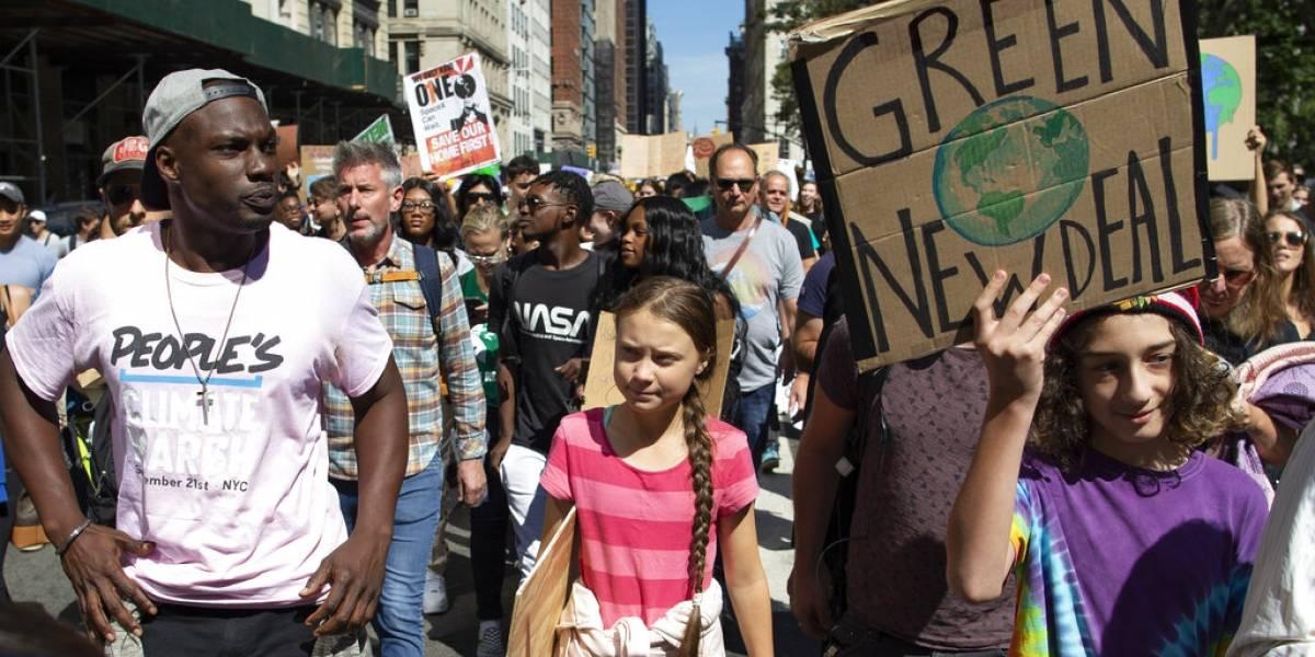 Cientos de miles marchan en el mundo por cambio climático