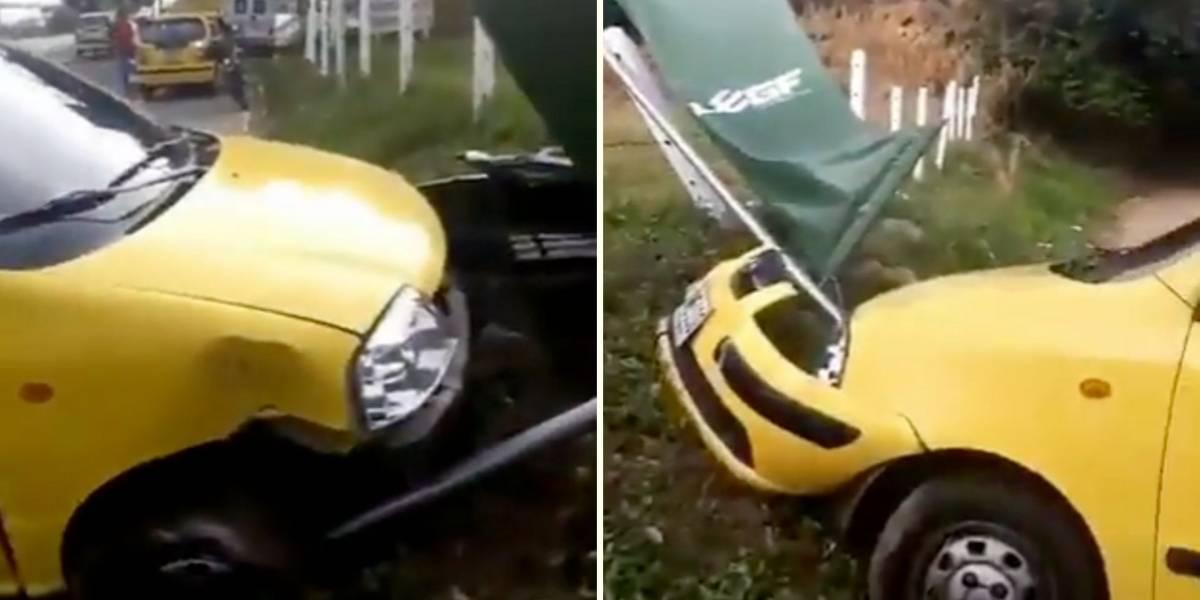 (VIDEO) Atraco a un taxista terminó en trágico accidente de tránsito