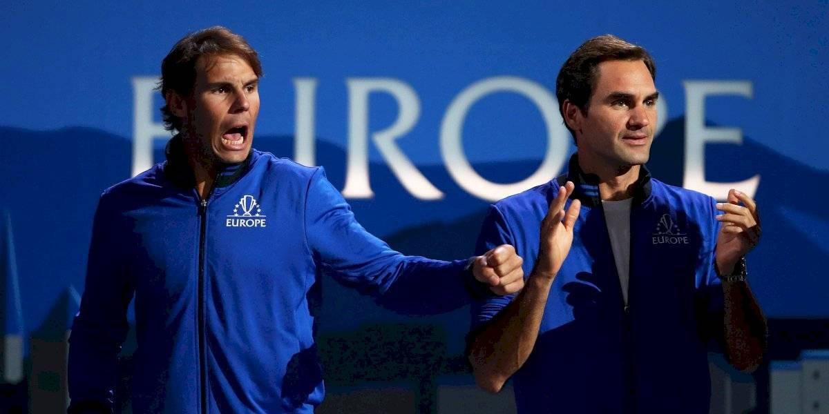 VIDEO: ¡De lujo! Federer y Nadal, entrenadores de Fognini en la Laver Cup