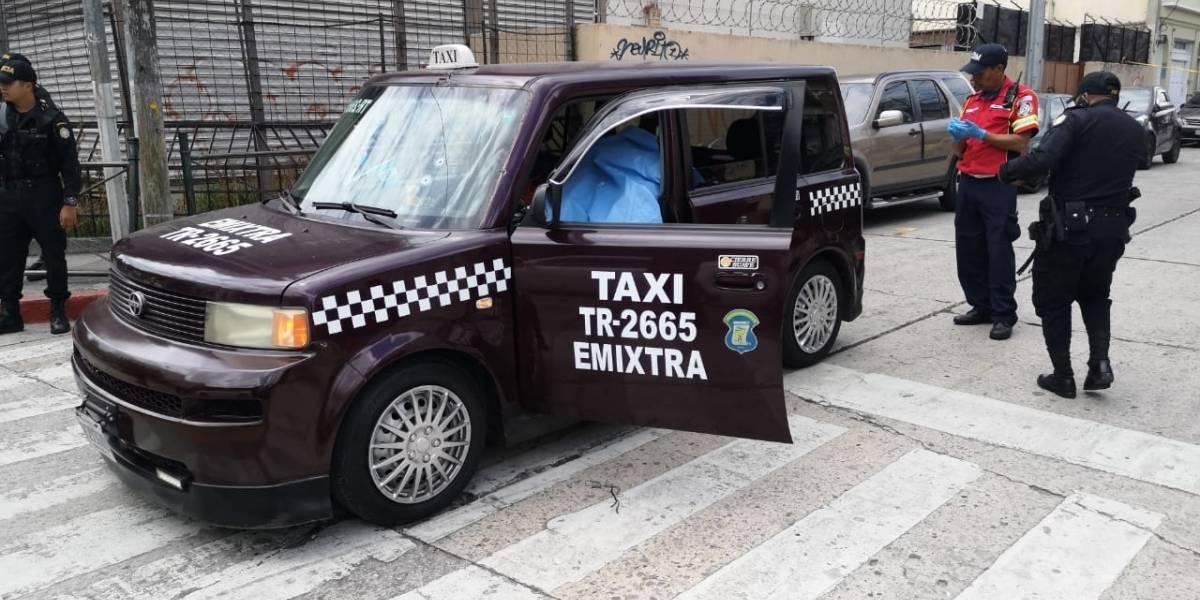 Matan a taxista en zona 1; PNC captura a presuntos sicarios