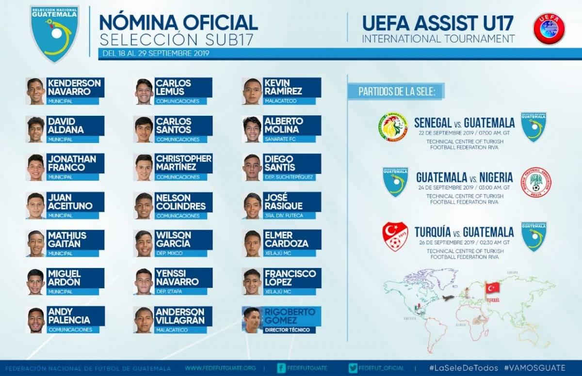 Selección Nacional de Guatemala Sub 17 en entrenamiento en Turquía